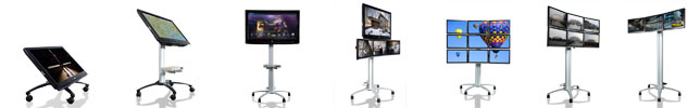 Edis Digital Display Stands for schools, busines, exhibitions, events and hospitality
